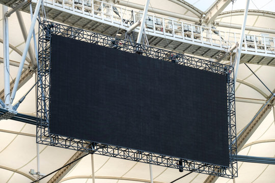 Digital Scoreboard At A Stadium