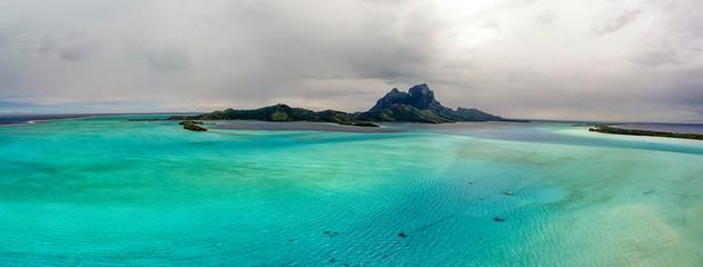 Acrylic Prints Olive Bora Bora aerial landscape french polynesia