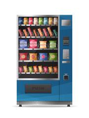 Snacks Vending Machine Realistic Design