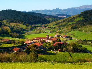Beautiful view of Arrazola village in Basque Country