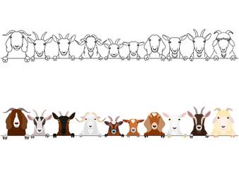 various goats heads border set