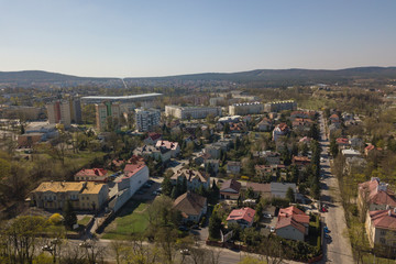 Poland, panorama of Kielce
