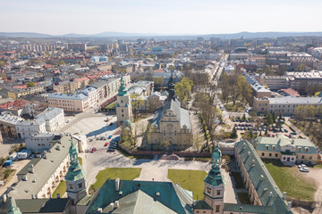 Poland, panorama of Kielce Wall mural