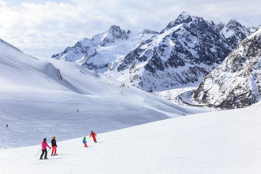 Winter Landscape in Courmayeur, Aosta valley, Italy