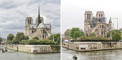 Cathédrale Notre-Dame de Paris avant/après