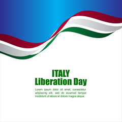 Italy Liberation Day Vector Template Design Illustration