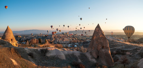 Wonderful balloons in Cappadocia with sunrise view