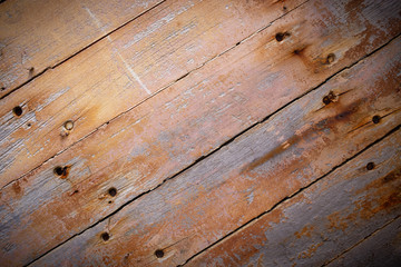 Rustic brown wood planks background
