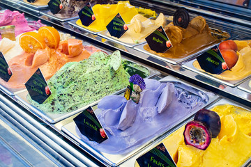 Flavors of ice cream in store