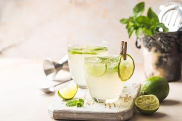 Lemonade or mojito cocktail