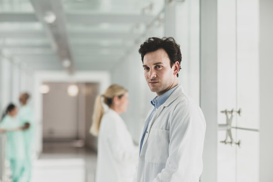 Portrait of confident male Doctor in Hospital