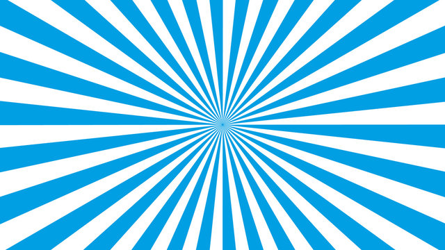 Blue and white sun rays or stripes Sunburst background. Sunburst blue stripes sun rays background. Blue and white sunrays background.