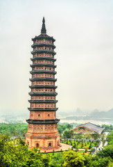 Foto op Aluminium Guilin Bai Dinh pagoda, the largest complex of Buddhist temples in Vietnam