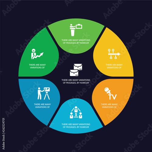 simple set of message, success, seminar, partner icons