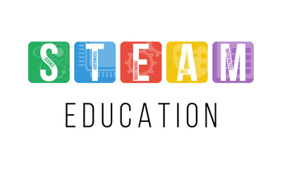 STEAM - science, technology, engineering, arts, mathematics. Education concept