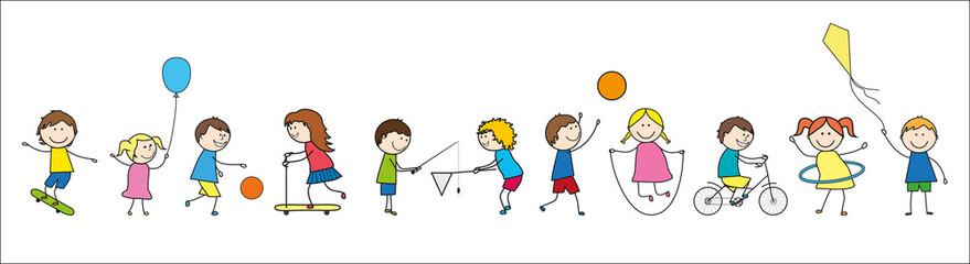 Frise-Enfants en train de jouer