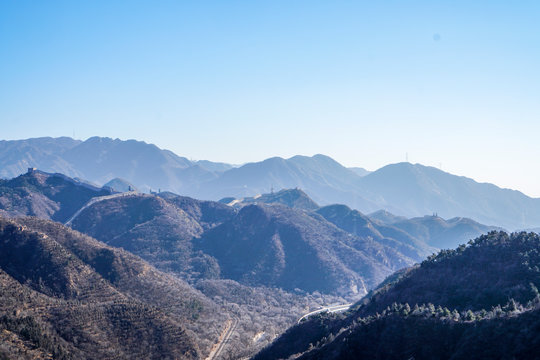 beautiful landscape of texas mountains at big bend national park with blue skies