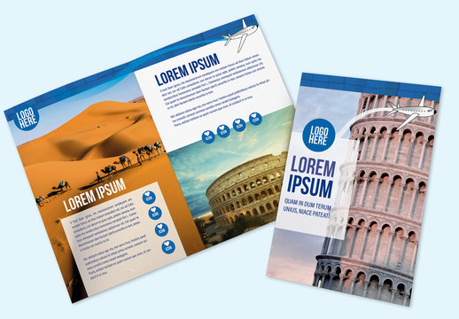 Traveling Brochure Layout with Graphic Accents