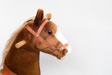Detail of pony horse toy for children