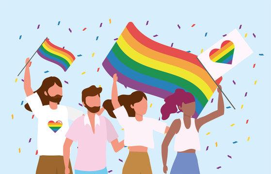 lgbt community together to freedom celebration