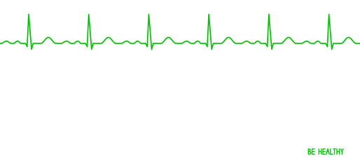 Ekg line. Heartbeat.