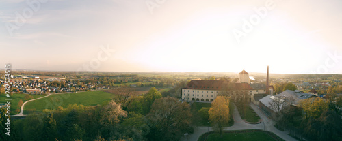 panoramic aerial of the oldest beer brewery, Weihenstephan