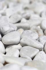Acrylic Prints Stones in Sand weisse Steine