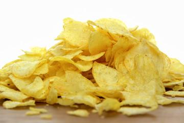 Kartoffelchips mit Salz und Pfeffer biologisch handgemacht