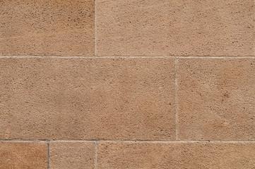 building facade of sandstone blocks