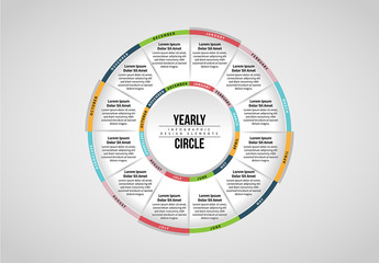 Yearly Circle Infographic