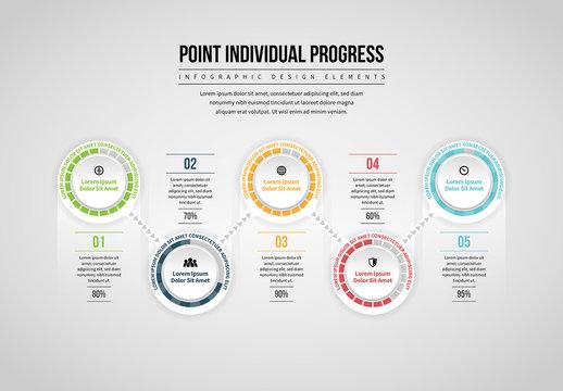 Point Individual Progress Infographic
