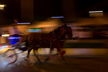 Horse Car. Blur abstract background.