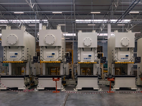 Machines for the production of metal automotive parts