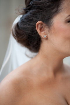 Bride with diamond stud