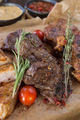 Canvas Prints Barbecue steak different