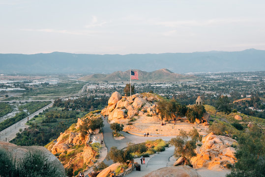 View of the summit of Mount Rubidoux in Riverside, California