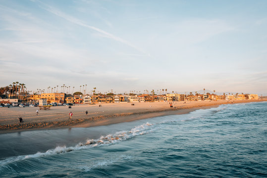 View of the beach in Seal Beach, Orange County, California