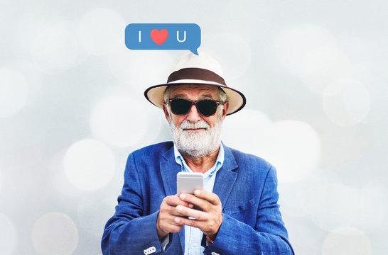 Senior's love text