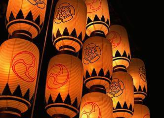 Traditional Japanese Lantern, Japanese Lanterns at Night