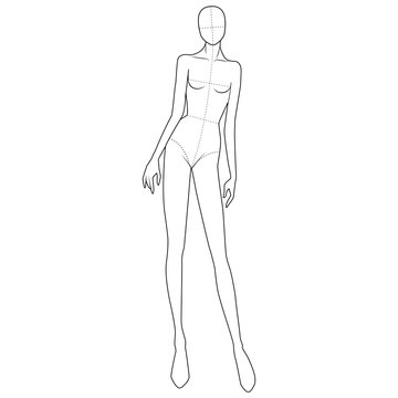 Fashion Figure Template 10 Head