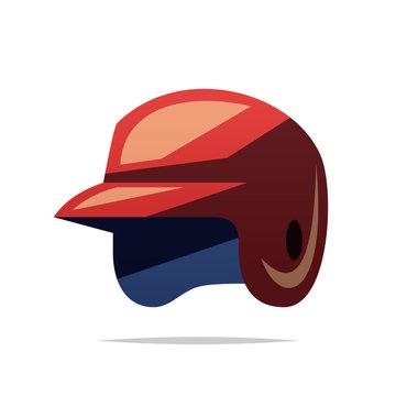 Baseball helmet vector isolated illustration