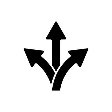 way icon, arrow vector
