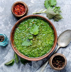 Green nettle soup
