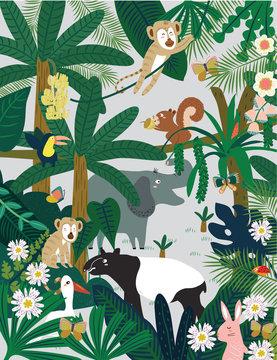 Hand Gezeichnet Vektor Hintergrund Palmblätter Tropischen Musterdesign  Perfekt Für Drucke Plakate Einladungen Etc Stock-Illustration - Getty Images