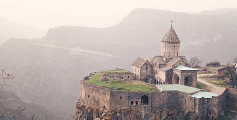 Ancient monastery Tatev in Armenia. Wall mural