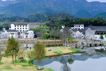 Village in the mountains,Anhui,China