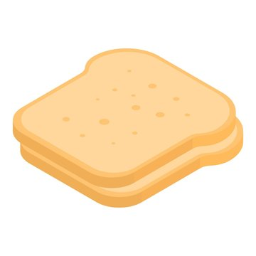 Slice of bread icon. Isometric of slice of bread vector icon for web design isolated on white background