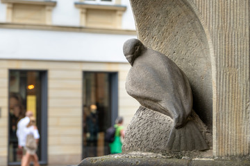 famous dove statue figure in Muenster Germany