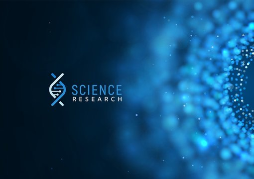Medical or scientific research vector background template. Science abstract web banner with blur effect