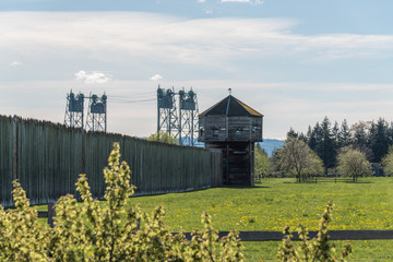 Fort Vancouver National Historic Site and the Interstate 5 Bridge in Vancouver Washington
